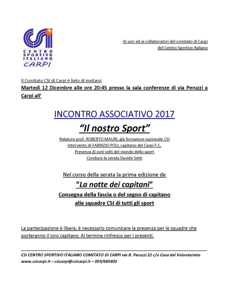 Incontro Associativo @ Sala Peruzzi | Carpi | Emilia-Romagna | Italia