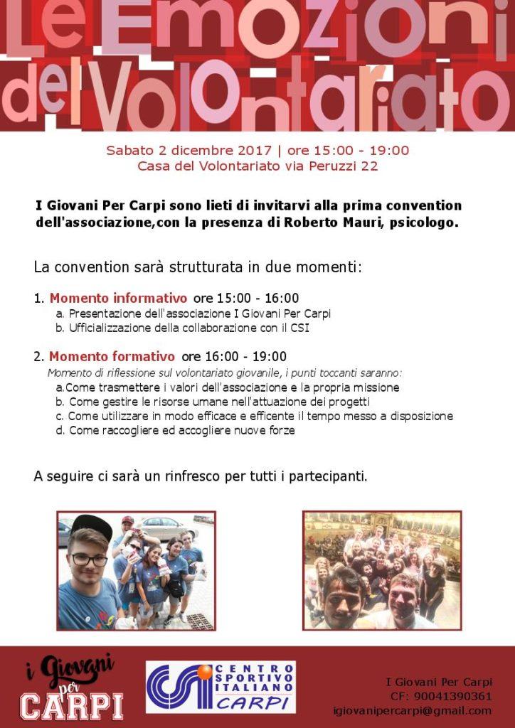 Giovani per Carpi @ Casa del Volontariato | Carpi | Emilia-Romagna | Italia