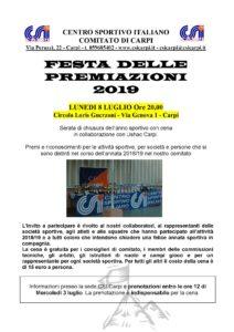 Festa delle Premiazioni @ Circolo Loris Guerzoni